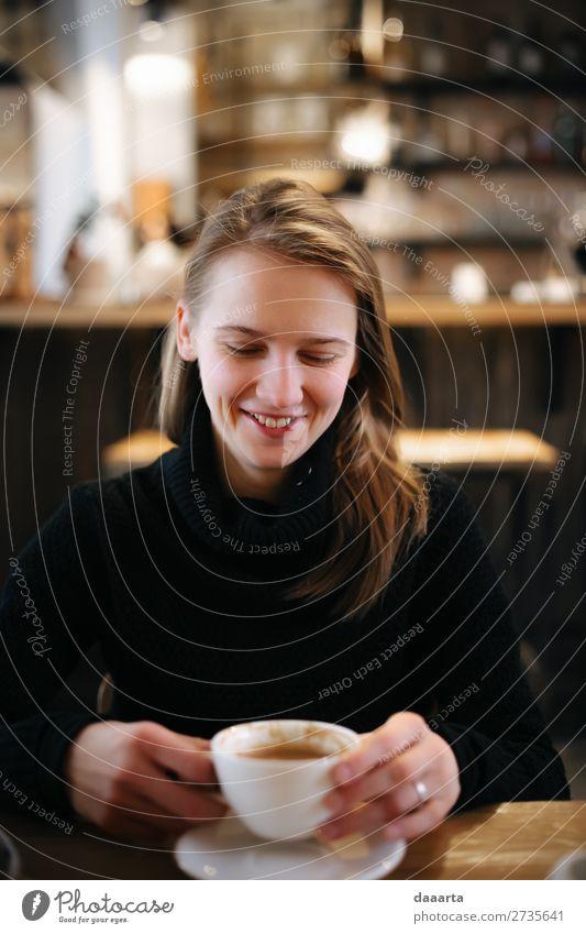 Kaffeeunternehmen Getränk trinken Heißgetränk Kakao Latte Macchiato Espresso Becher Lifestyle Stil Freude Leben harmonisch Freizeit & Hobby Abenteuer Freiheit