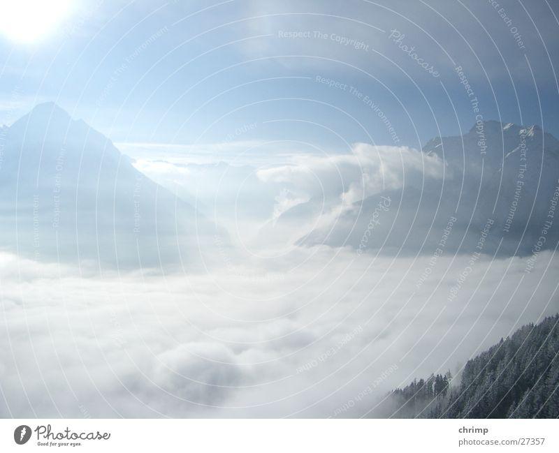 Himmel Wolken Berge u. Gebirge Sonne