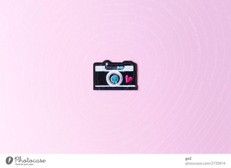 Fotoliebe Freizeit & Hobby Fotograf Fotokamera Technik & Technologie Kunst Accessoire Dekoration & Verzierung Stoff Zeichen Herz ästhetisch Freude Idee