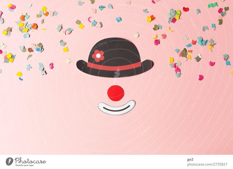 Clown und Konfetti Feste & Feiern Karneval Accessoire Hut Papier Dekoration & Verzierung Zeichen Fröhlichkeit mehrfarbig Gefühle Stimmung Freude Glück