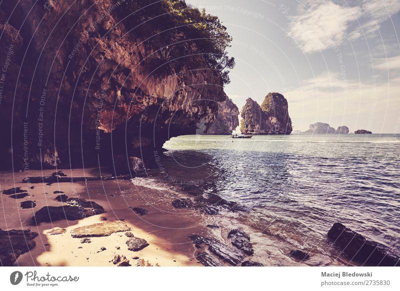 Ruhige Bucht in der Provinz Krabi, Thailand. exotisch Erholung ruhig Meditation Schwimmen & Baden Ferien & Urlaub & Reisen Tourismus Ausflug Abenteuer Freiheit