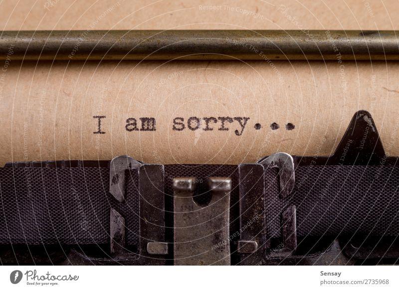 alt weiß schwarz Traurigkeit Gefühle Stimmung retro Buch Papier schreiben Wort Etage Nostalgie Text Entwurf Mitteilung