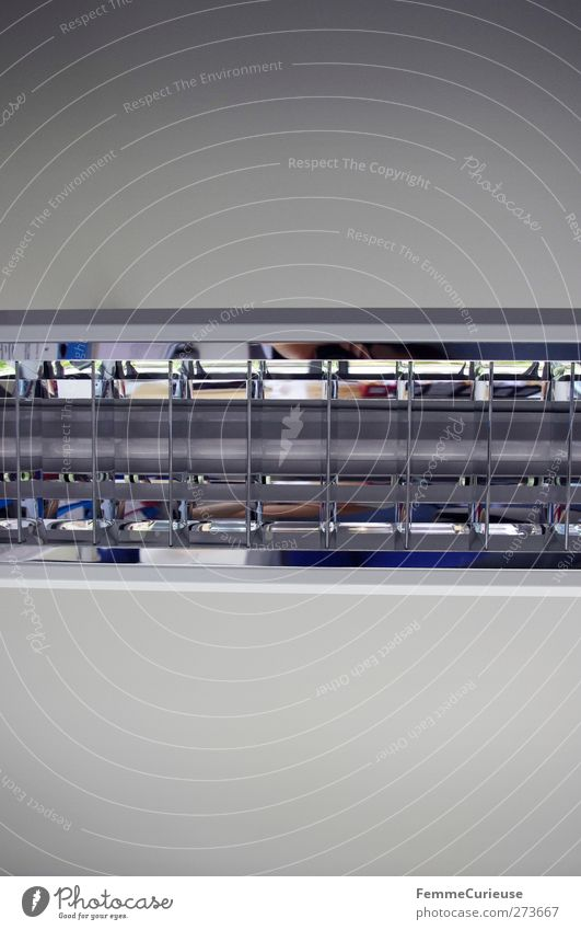 Leuchtstoffröhre. weiß Haus Lampe Innenarchitektur hell Energiewirtschaft Häusliches Leben Dekoration & Verzierung Elektrizität Technik & Technologie