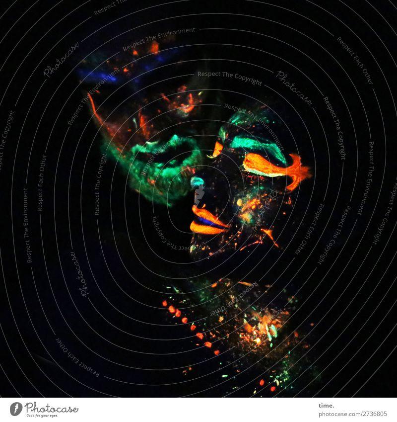 neon love (IV) Frau Mensch Mann dunkel Erwachsene feminin außergewöhnlich Zusammensein Freundschaft Zufriedenheit maskulin Kommunizieren Kreativität