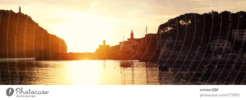Last Days. Ferien & Urlaub & Reisen Sommer Sonne Meer Kunst Zufriedenheit Reisefotografie Insel ästhetisch Abenteuer Romantik Idylle Hafen Sommerurlaub Spanien Panorama (Bildformat)