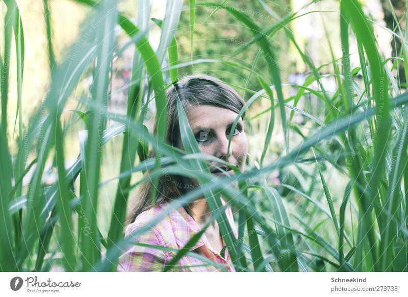 ...Invisible... Mensch Frau Natur Jugendliche grün schön Pflanze Tier Erwachsene Gesicht Auge Umwelt feminin Leben Haare & Frisuren Junge Frau
