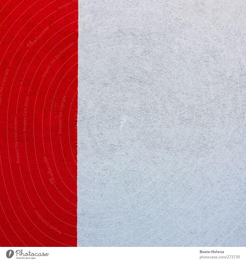 Weiß-rot Wohnung Innenarchitektur Dekoration & Verzierung Wand Mauer Stein grau gestreift Farbfoto Innenaufnahme Textfreiraum links Textfreiraum oben