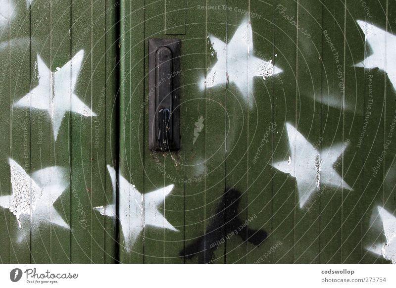 pauli prinzip Stern Fassade Stadt grün weiß Kreativität Kunst Stern (Symbol) Graffiti Schablone Himmelskörper & Weltall Astrologie Symbole & Metaphern