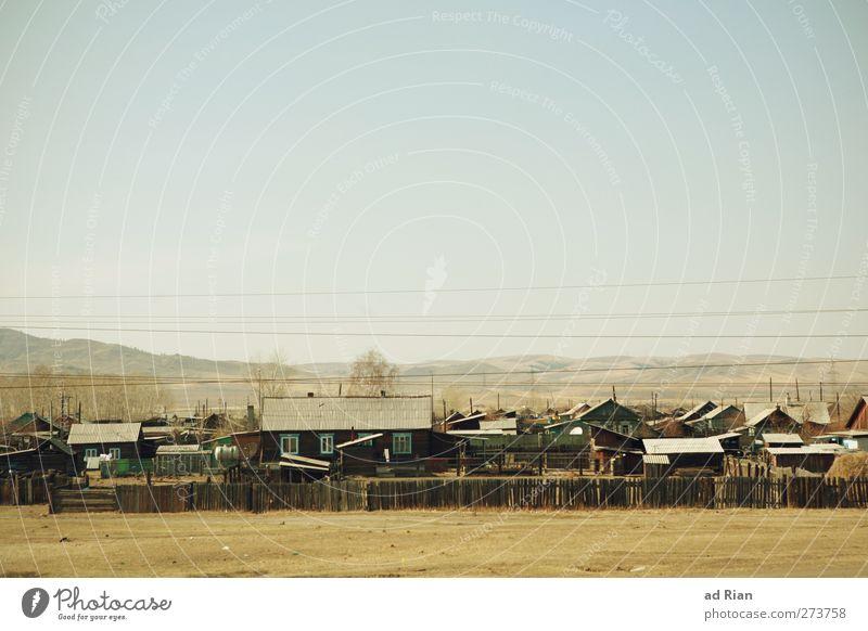 gemeinschaft Himmel Natur Einsamkeit Haus Landschaft Berge u. Gebirge Wärme Sand Zusammensein Erde Idylle Wüste Hügel Unendlichkeit Dorf Hütte