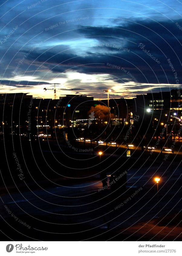 Dresden City Nacht Stadt Sonnenuntergang Wolken Europa Himmel