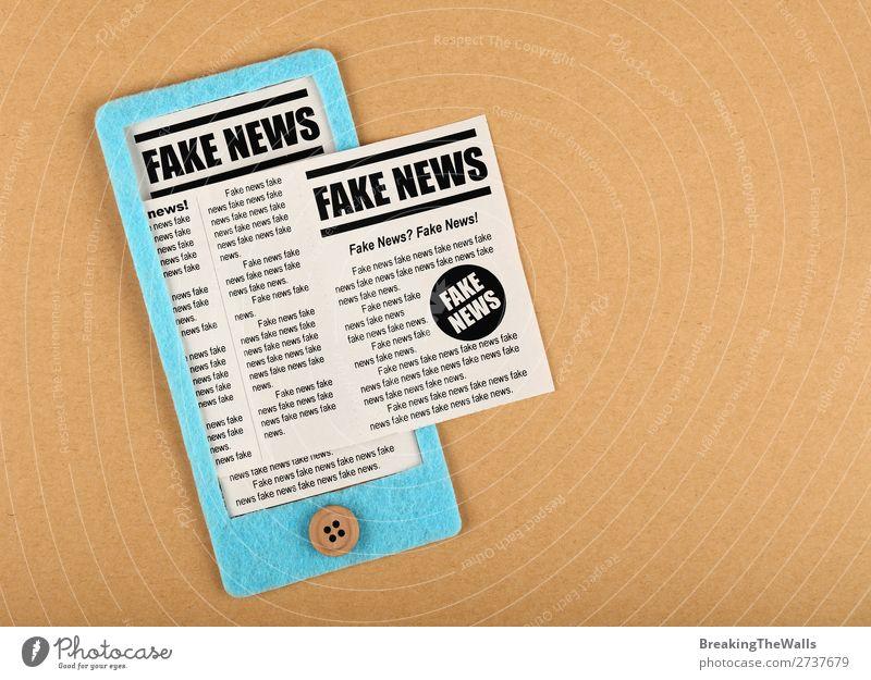blau sprechen braun modern Telekommunikation Papier Information Internet Handy Medien Zeitung PDA Basteln Bildschirm falsch Post