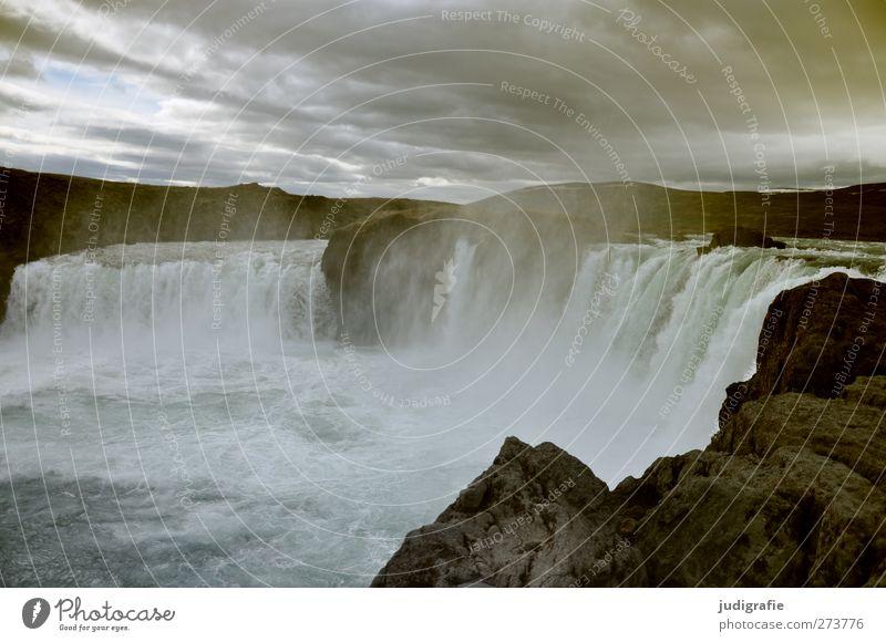 Island Himmel Natur Wasser Wolken Umwelt Landschaft dunkel Stimmung Felsen Kraft Klima außergewöhnlich natürlich wild Nebel nass