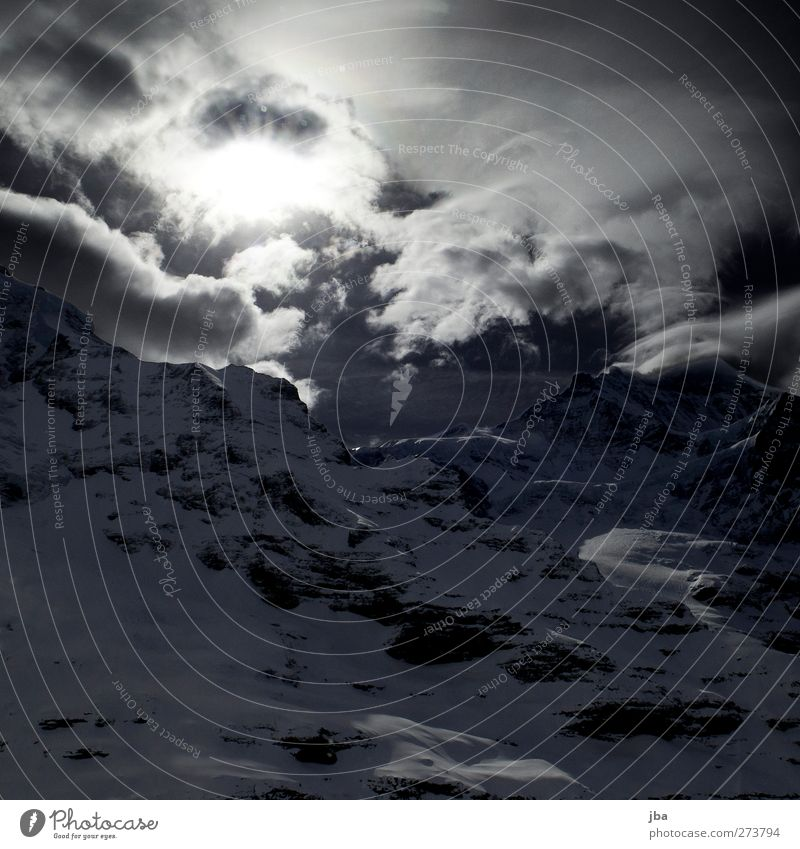 Jungfraujoch II Himmel Natur Ferien & Urlaub & Reisen Sonne Winter Wolken ruhig Landschaft Berge u. Gebirge Schnee Leben Luft Felsen Wetter wild Tourismus