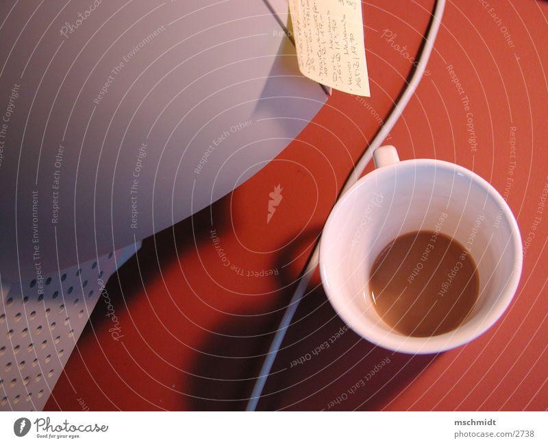 coffee@work Büro Tisch Kaffee Tasse Zettel Becher