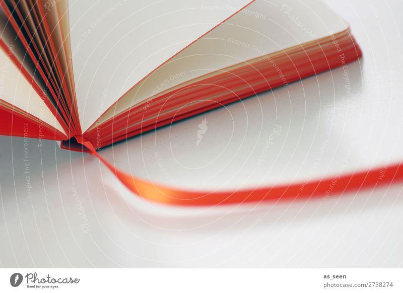 Buchseiten weiß Business Schule orange Büro Freizeit & Hobby Kultur authentisch lernen Studium berühren lesen schreiben Bildung Wissenschaften