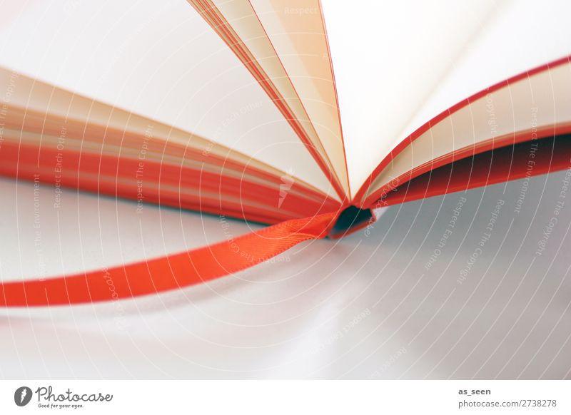 Mal wieder lesen Farbe weiß Schule orange Freizeit & Hobby modern lernen Buch Studium Freundlichkeit Erwachsenenbildung Bildung Medien Zeitung Kindergarten