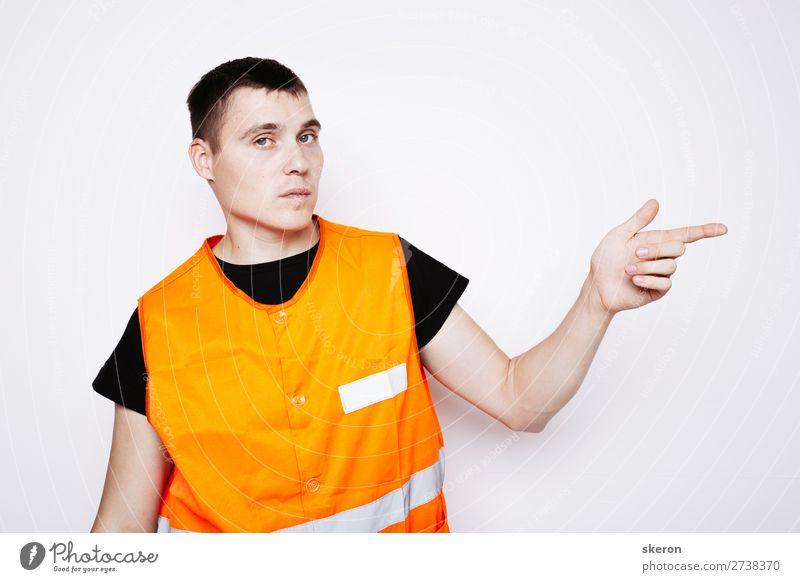 Mann in Form eines Straßenbauers Lifestyle Kindererziehung Bildung Arbeit & Erwerbstätigkeit Beruf Arbeitsplatz Baustelle Industrie Karriere Erfolg