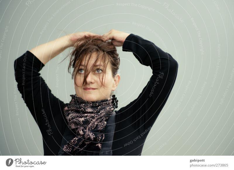 nach dem Sturm | UT S/HD 2012 Mensch Frau blau schön schwarz Erwachsene Gesicht feminin Leben Haare & Frisuren Kopf natürlich Haut Fröhlichkeit Freundlichkeit