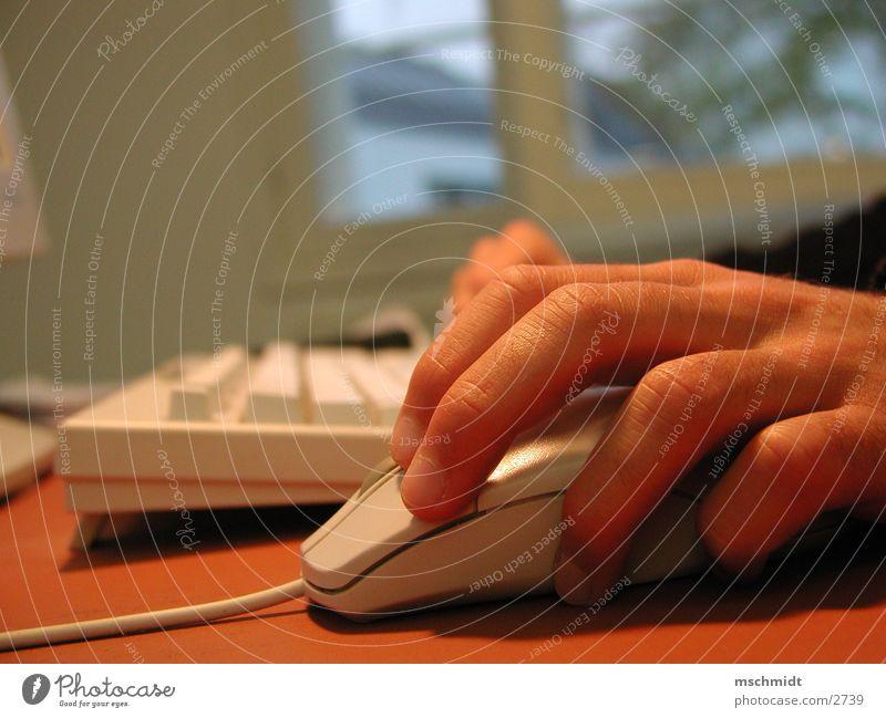 ClickClack Computer Klacken Büro Makroaufnahme Hans Klicken Tastatur Business Computermaus