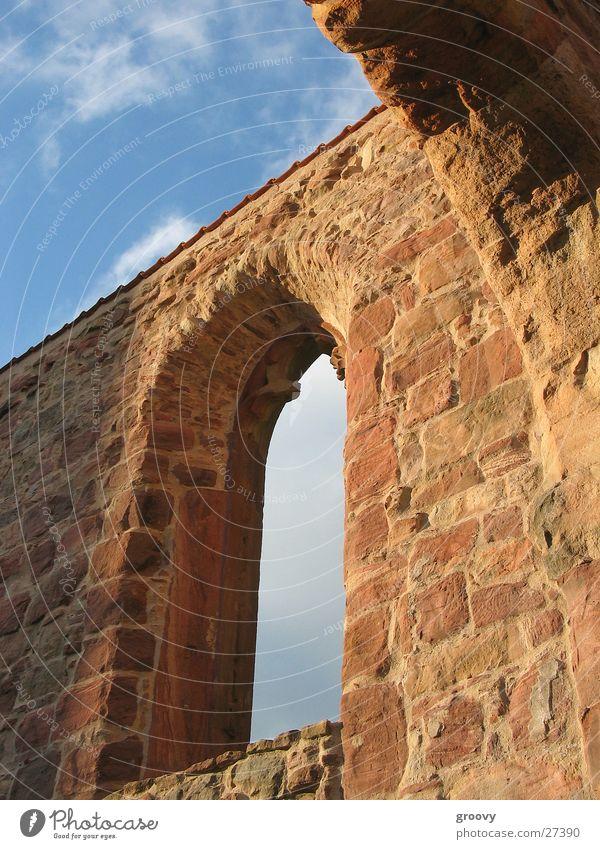 Ruine im Abendlicht Himmel Fenster Religion & Glaube Architektur Kloster Mittelalter Sandstein Gemäuer