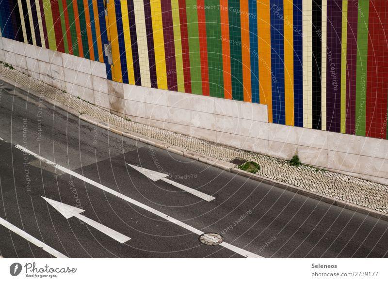 richungsweisend Ausflug Stadt Verkehr Verkehrsmittel Verkehrswege Straßenverkehr Autofahren Wege & Pfade Zeichen Schilder & Markierungen Hinweisschild