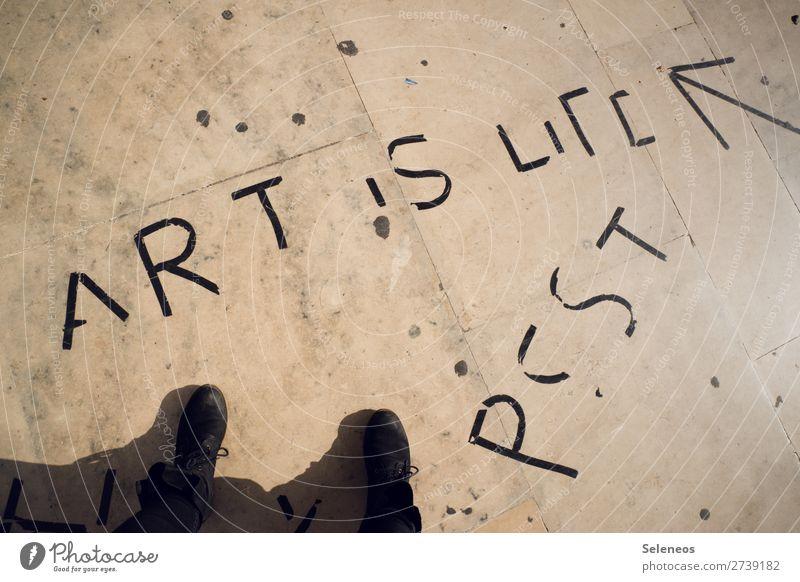 Pssst Mensch Fuß 1 Kunst Schuhe Stiefel Zeichen Schriftzeichen Graffiti Pfeil frei Freiheit Freizeit & Hobby Freude Kreativität Leidenschaft Farbfoto