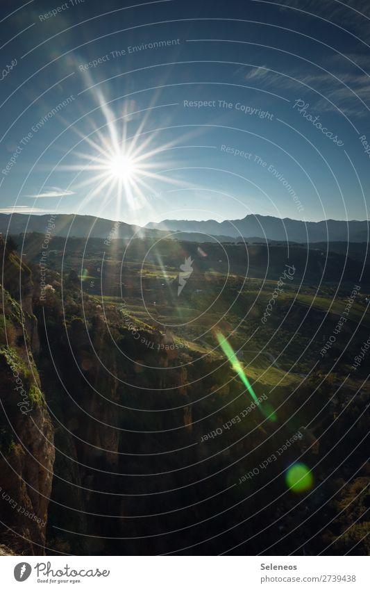 Spanien Ferien & Urlaub & Reisen Tourismus Ausflug Ferne Freiheit Umwelt Natur Landschaft Himmel Horizont Sonne Schönes Wetter Berge u. Gebirge Erholung Fernweh