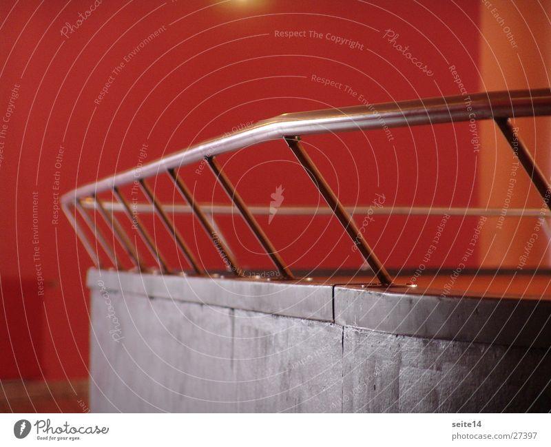 haus - saal - schiff Reling Saal rot Architektur Geländer Holz. Edelstahl