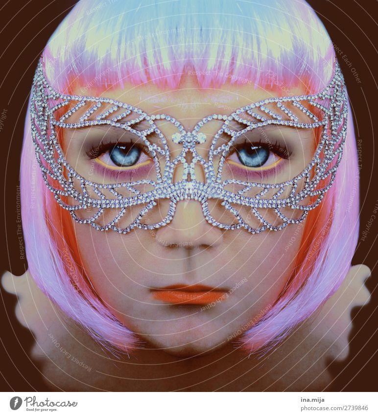 Hallo Erdling! Frau Mensch Jugendliche Junge Frau Erwachsene feminin Feste & Feiern Stil Kunst außergewöhnlich Haare & Frisuren rosa Kultur Kreativität verrückt