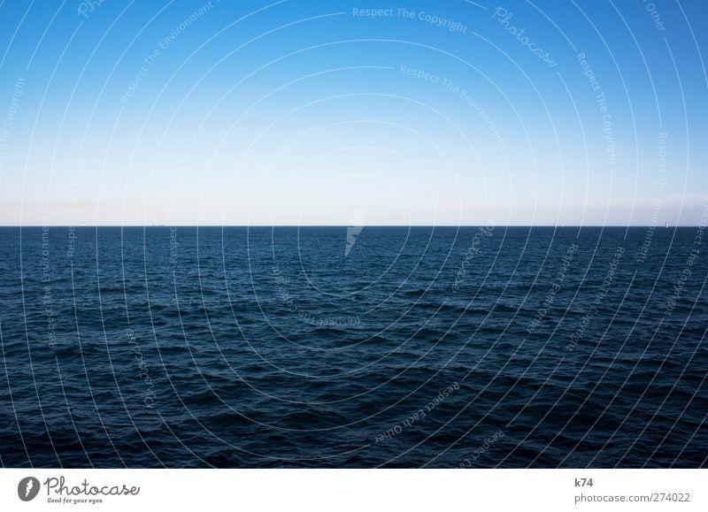 el mar Himmel blau Wasser schön Meer ruhig Erholung Ferne kalt Horizont Wellen groß frei Unendlichkeit Frieden Nordsee