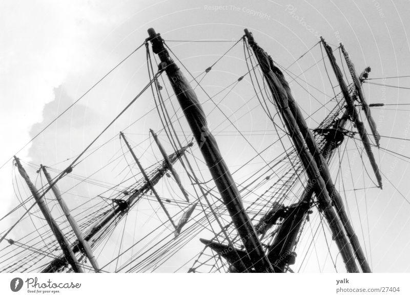 Schiffsmasten Wasser Schifffahrt Ostsee Segelschiff maritim