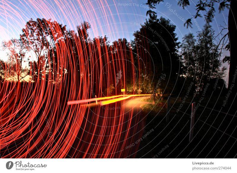 ...abgefahren Himmel Natur Baum rot Landschaft gelb Straße Wege & Pfade PKW Kunst rosa Verkehr leuchten Sträucher Verkehrswege drehen