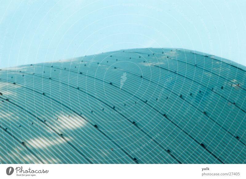 Wellblechdach Architektur Dach Blech Niete Wölbung Hangar