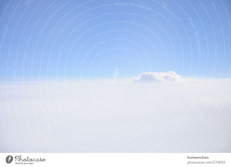 Himmel Natur blau weiß schön Wolken ruhig Umwelt Landschaft Leben Luft träumen natürlich elegant Beginn ästhetisch