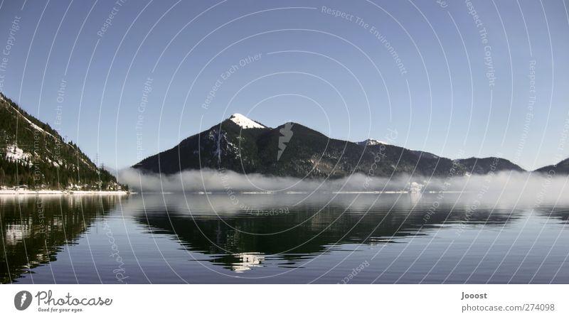 Walchensee Himmel Natur blau Wasser Ferien & Urlaub & Reisen Winter Erholung Umwelt Landschaft Berge u. Gebirge Schnee Freiheit See Schwimmen & Baden Zufriedenheit natürlich