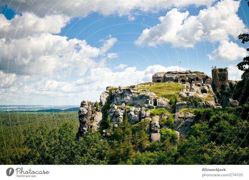 Felsenfest(ung) Landschaft Himmel Wolken Sehenswürdigkeit Felsenburg Regenstein alt historisch Romantik Abenteuer Festung Burg oder Schloss Berge u. Gebirge