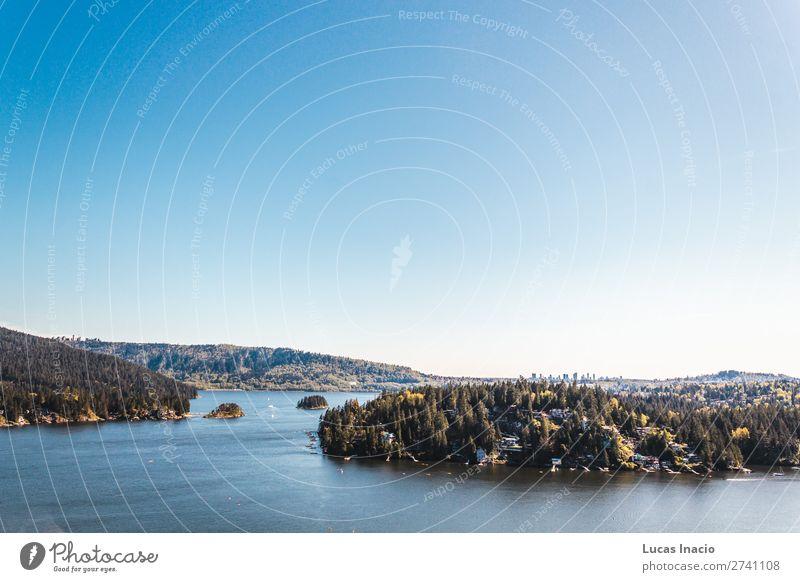 Belcarra Blick vom Quarry Rock in North Vancouver, BC, Kanada Sommer Strand Meer Insel Berge u. Gebirge Haus Umwelt Natur Landschaft Sand Himmel Baum Blume