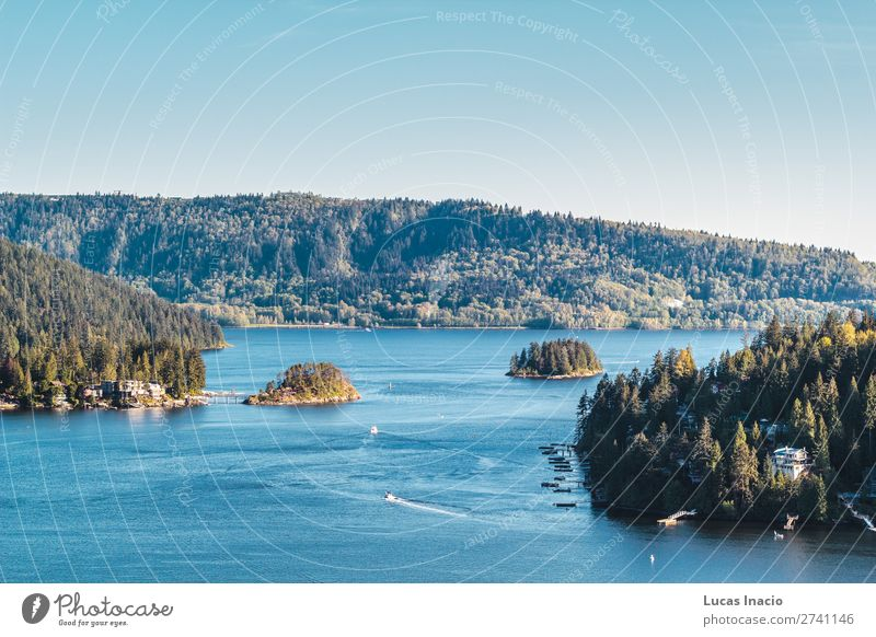 Belcarra Blick vom Quarry Rock in North Vancouver, BC, Kanada Sommer Strand Meer Insel Berge u. Gebirge Umwelt Natur Landschaft Sand Himmel Baum Blume Blatt