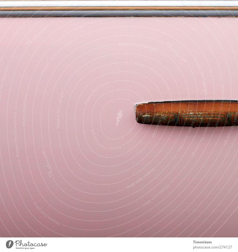Candy + Rost. Farbe Metall rosa ästhetisch einfach Kunststoff Kitsch Griff Wohnwagen Heidelberg