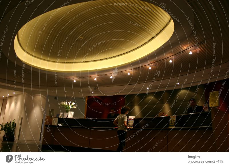 Black Lounge ruhig warten Architektur Kreis London Foyer verloren