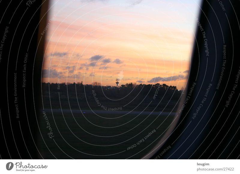 Landung ins Neue Himmel Wolken dunkel Fenster Flugzeug Luftverkehr Argentinien Radarstation Buenos Aires