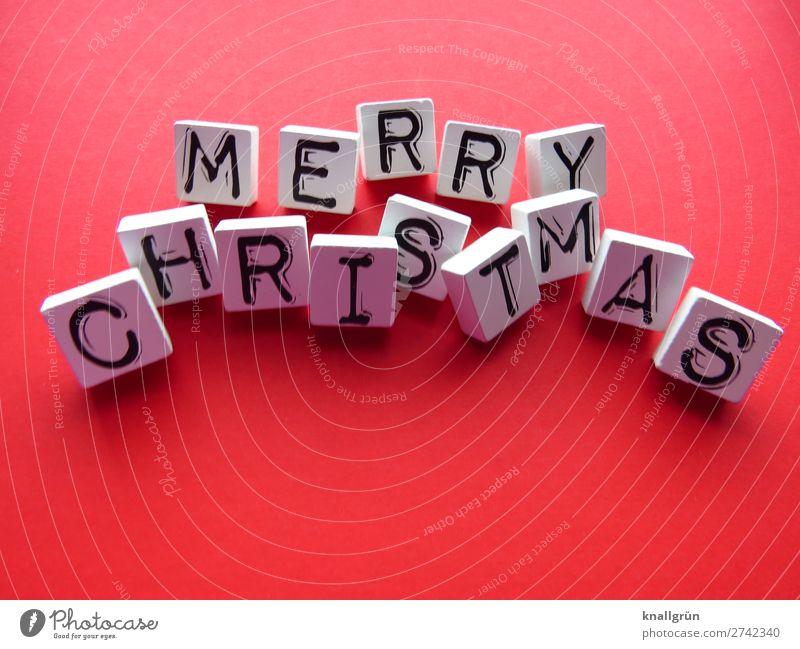 Merry Christmas Weihnachten & Advent Feste & Feiern Tradition Winter festlich Freude besinnlich Winterzeit Dezember Buchstaben Wort Satz Letter Text Typographie