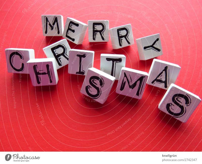 Merry Christmas Weihnachten & Advent Frohe Weihnachten Feste und Feiern Tradition Feiertage Winter Festtage Feste & Feiern Buchstaben Wort Satz Text Letter