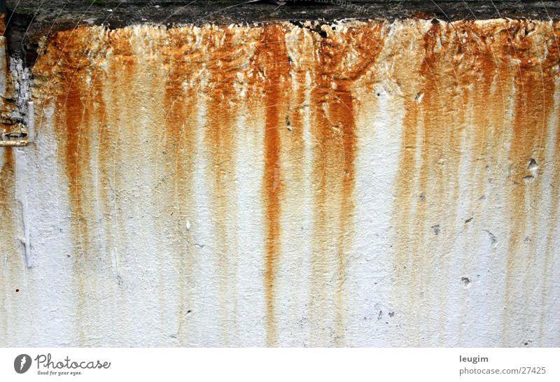 Oxidación Wand weiß rotgelb Buenos Aires Argentinien Rost Rostnasen