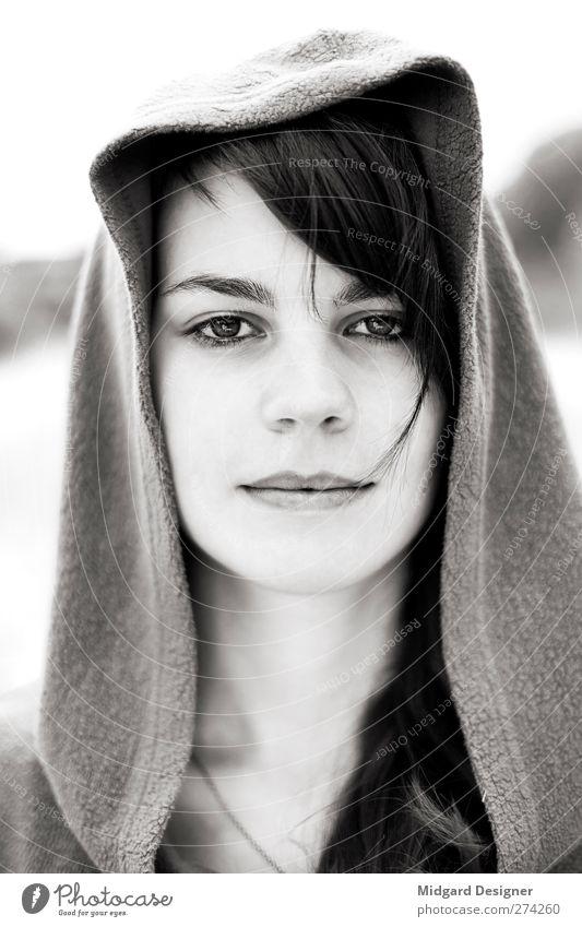 Reinheit | Laura Mensch Jugendliche Erwachsene Gesicht feminin Junge Frau hell 18-30 Jahre authentisch Hoffnung langhaarig Wahrheit Tugend Kapuzenpullover
