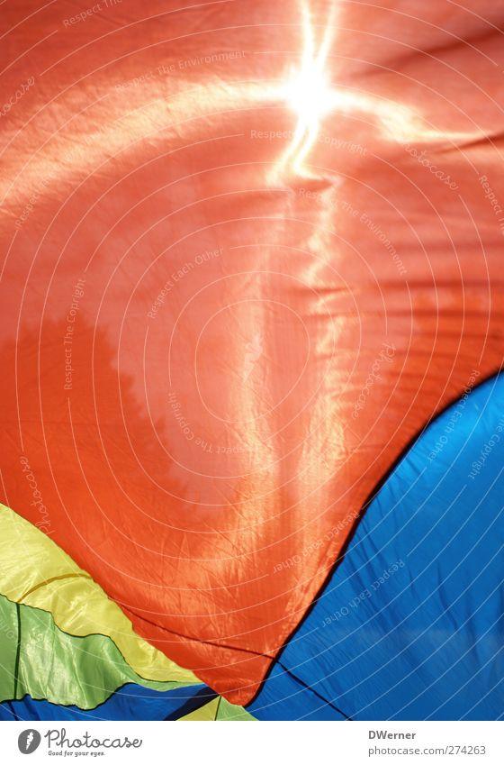 Bunt II Sonne rot ruhig Erholung Bewegung Stil Kunst Tanzen Freizeit & Hobby glänzend Design Fröhlichkeit leuchten Streifen Wellness Kunststoff