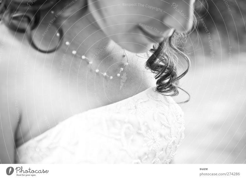 Detailverliebt Freude Haare & Frisuren Feste & Feiern Hochzeit Mensch feminin Junge Frau Jugendliche Erwachsene Mund Lippen 1 18-30 Jahre Locken Lächeln
