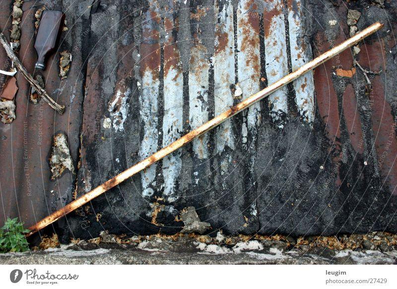 Barra Stab Dach Wellblech Teer Peru Dinge vierkant Rost alt