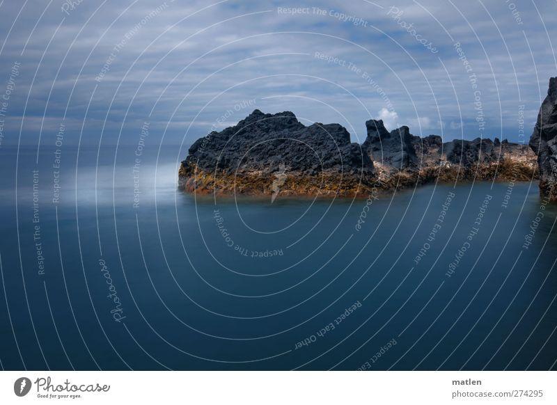Gestade Himmel blau Meer Wolken Landschaft Bewegung Küste Horizont braun Felsen Wellen Kraft Insel Bucht schlechtes Wetter Fjord