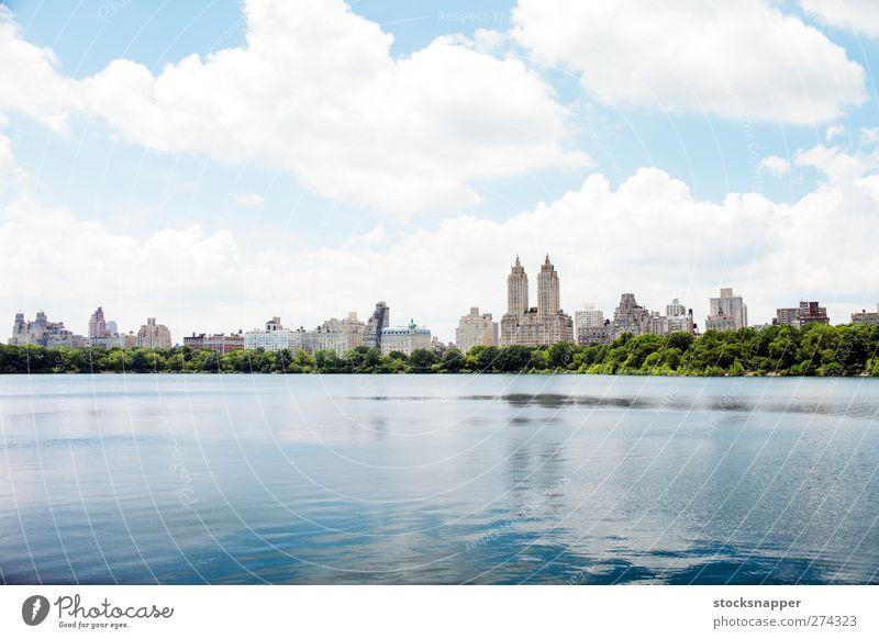 Wasser Stadt Sommer New York City Stausee Central Park